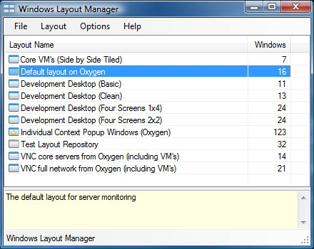 Windows Layout Manager (WiLMa) by Stefan Didak