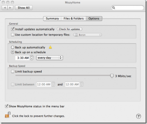 Mozy 2.0 for Mac OSX