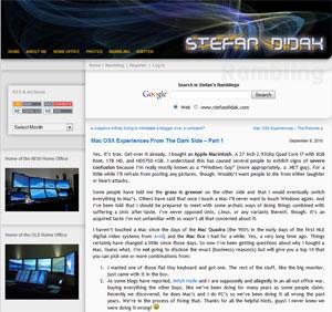 The Old Stefan Didak Website