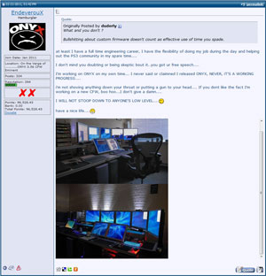 EndeverouX on NextGenUpdate (NGU) and his ONYX 3.56 CFW PS3 is a complete fraud!