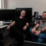 Mitch Haile and Stefan Didak in the New Office